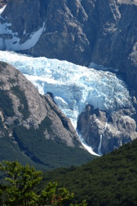 glacier as seen from the trail