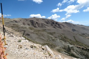 rocky snowless slopes
