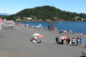uncrowded side of beach at Pucon