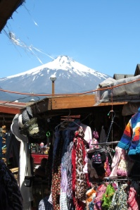 view from an open market with surprisingly poor quality knitted goods