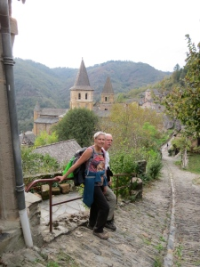 Coming into Conques.
