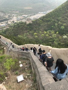 A crowd on the Great Wall near guardhouse 12